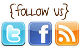 follow us on twitter, facebook and blogger
